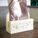 アラベスク模様が彫られたカードスタンド[10404]【カード立て 写真立て 写真たて フライヤースタンド バリ アジア雑貨 アジアン雑貨 ナチュラル アジア工房...