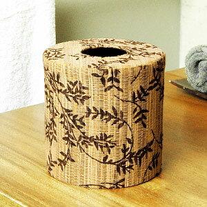 オリーブの模様のウォーターヒヤシンス編みトイレットペーパーケースカバー[かぶせるタイプ][…...:asia-kobo:10006002