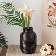 ぐるぐるラタンの造花フラワーベース(壺型)(12660)【花瓶 花器 壺 バスケット インテリア モダン バリ 雑貨 アジアン雑貨】