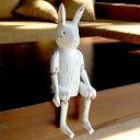 手足が動かせる木彫りのパペット人形[ウサギ][11136]【バリ島のうさぎ 兎 インテリア置物 アジアン置き物 木彫りの動物 木製オブジェ かわいい カラフル アニマルオブジェ 動物の人形 バリ 雑貨 アジアン雑貨 アジア工房 アジアン おしゃれ】
