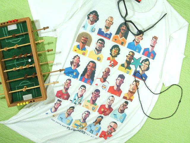世界の有名サッカーTシャツサイズ:S5000円以上で送料無料Tシャツメンズ半袖大きいサイズプリントT