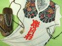 和風和柄ニッポンモチーフ 刺青Tシャツ【サイズ:XM(大きめM) 幅広XL 】【5000円以上で】送料無料 Tシャツ メンズ Vネック 半袖 大きいサイズのTシャツ 刺青Tシャツ タトゥ Tシャツ プレゼント包装無料