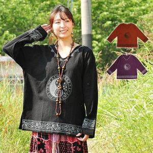 プルオーバー アジアン ファッション エスニック レディース