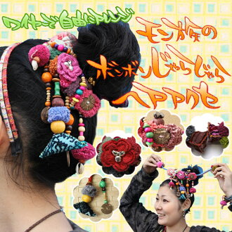It is bonbon & jingle ヘアアクセ ★ Katyusha of the arrangement ♪ Hmong with a wire freely