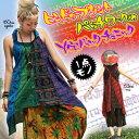 ヒンドゥープリントパッチワーク チュニック エスニック アジアン ファッション ヒンドゥー カラフル
