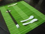 竹ランチョンマット157 ライトグリーン2 1枚 1枚単位で買えます。【激安】業務用としてもオシャレな演出!!