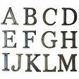 アルファベット A〜M 真鍮製 ブラス アンティークレプリカ A B C D E F G H I J K L M 【メール便OK】