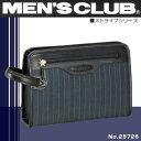 MEN'S CLUB -Stripe series-【セカンドバッグ】メンズクラブ[No.25726]ストライプシリーズ/セカンドバックポーチ【メンズ】【鞄】【ナイロン】【軽量】【ビジネスバック】【バッグ】【バック】【ランキング】【人気】【ブランド】【セカンドバック】