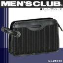 MEN'S CLUB -Stripe series-【セカンドバッグ】メンズクラブ[No.25730]ストライプシリーズ/Wマチタイプセカンドバックポーチ【メンズ】【鞄】【ナイロン】【軽量】【ビジネスバック】【バッグ】【バック】【ランキング】【人気】【ブランド】【セカンドバック】