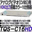 TQS-C16HD【フルHD出力対応画面16分割器】 【防犯カメラ】 【監視カメラ】 【3D Corporation】 【スリーディ】 【送料無料】