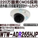 WTW-ADR265HJP【AHD2.0方式採用220万画素屋内用赤外線搭載ドーム型カメラ】 【防犯カメラ】 【監視カメラ】 【送料無料】