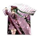 ショッピング初音ミク [COSPA] 初音ミク 千本桜 あぴミク千本桜フルグラフィックTシャツ WHITE M コスパ