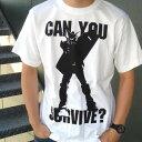ショッピングガンダム [COSPA] 機動戦士ガンダム08/COSPA 0285-103 can you survive? Tシャツ/WH-L コスパ