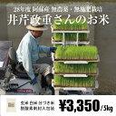 [セール中][無農薬・無施肥栽培] 井芹政重さんのお米 5kg / 自然栽培 / 九州 熊本 阿蘇産