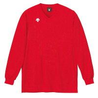 デサント V首長袖ゲームシャツ DSS4311・RED レッドの画像