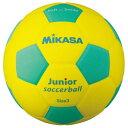 ミカサ スマイルサッカー 軽量3号球 ジュニア SF3JYLG イエロー×ライトグリーン