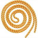 【2個までメール便可】 ササキ 新体操ロープ ジュニアスパイラルロープ MJ243 KEOY 蛍光オレンジ×イエロー