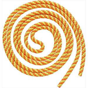 【2個までメール便可】[SASAKI]ササキ新体操ロープジュニアスパイラルロープ(MJ243)(KEOY)蛍光オレンジ×イエロー
