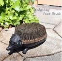 ショッピングアイアン Hedgehog Foot Brush フットブラシ 靴 ブラシ 泥落とし ハリネズミ アイアン 鉄 ブラック おしゃれ 可愛い