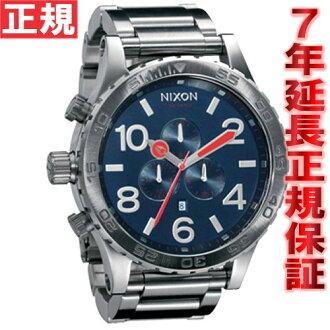 Nixon NIXON 51-30 CHRONO chronograph Navy NA083307-00