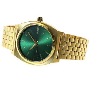ニクソンNIXONタイムテラーTIMETELLER腕時計メンズゴールド/グリーンサンレイNA0451919-00