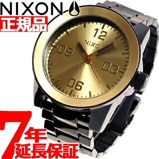 ニクソン NIXON コーポラルSS CORPORAL SS 腕時計 メンズ ブラック/ゴールド NA346010-00 [正規品][送料無料][7年延長正規保証][ラッピング無料][サイズ調整無料]