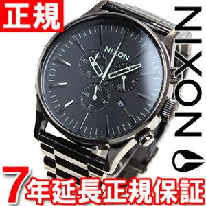 ニクソンNIXONセントリークロノSENTRYCHRONO腕時計メンズクロノグラフポリッシュガンメタル/ラムNA3861885-00