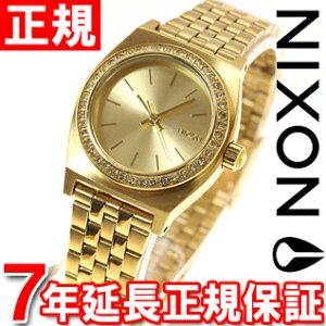 ニクソンNIXONスモールタイムテラーSMALLTIMETELLER腕時計レディースオールゴールドクリスタルNA3991520-00