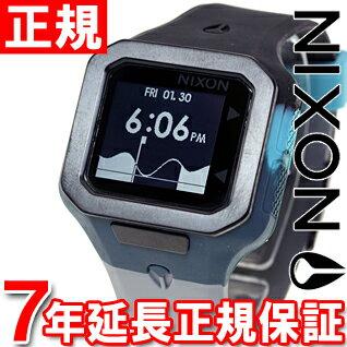 ニクソン NIXON スーパータイド SUPERTIDE 腕時計 メンズ ブラック/シーフォーム/グレイ デジタル NA3161942-00