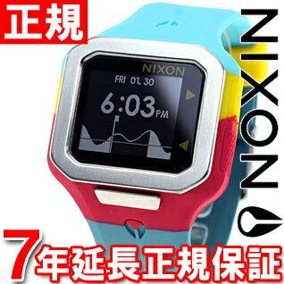 ニクソン NIXON スーパータイド SUPERTIDE 腕時計 メンズ シーフォーム/マゼンタ/イエロー デジタル NA3162005-00【あす楽対応】【即納可】