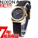 ニクソン NIXON スモールタイムテラーレザー SMALL TIME TELLER LEATHER 腕時計 レディース ブラック/ゴールド NA509010-00