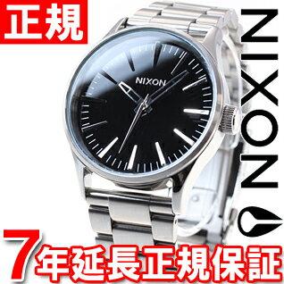 ニクソン NIXON セントリー38 SS SENTRY 38 SS 腕時計 メンズ/レディース ブラック NA450000-00 [正規品][送料無料][7年延長正規保証][ラッピング無料][サイズ調整無料]山形県