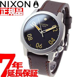 ニクソン NIXON レンジャー40レザー RANGER 40 LEATHER 腕時計 メンズ/レディース ブラック/ブラウン NA471019-00 [正規品][送料無料][7年延長正規保証][ラッピング無料]