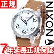 ニクソン NIXON レンジャー40レザー RANGER 40 LEATHER 腕時計 メンズ/レディース シルバー/サドル NA4712092-00