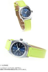 ニクソンNIXONスモールタイムテラーレザーSMALLTIMETELLERLEATHER腕時計レディースネイビー/ネオンイエローNA5092080-00