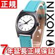 ニクソン NIXON スモールタイムテラーレザー SMALL TIME TELLER LEATHER 腕時計 レディース シルバー/ターコイズ NA5092084-00【正規品】【7年延長正規保証】