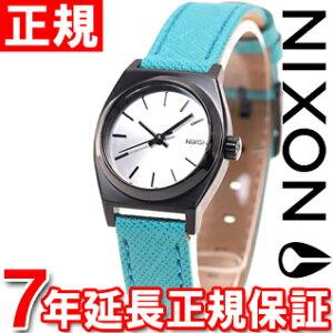 ニクソンNIXONスモールタイムテラーレザーSMALLTIMETELLERLEATHER腕時計レディースシルバー/ターコイズNA5092084-00