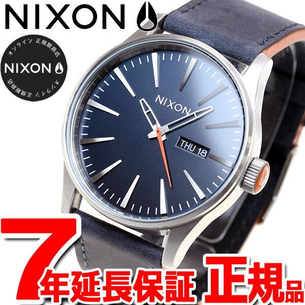 ニクソン NIXON セントリーレザー SENTRY LEATHER 腕時計 メンズ ブルー/オレンンジ NA105863-00【2016 新作】【あす楽対応】【即納可】
