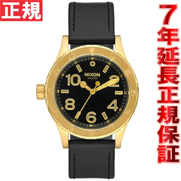 ニクソン NIXON 38-20レザー 38-20 LEATHER 腕時計 レディース ゴールド/ブラック NA467513-00【2016 新作】 [正規品][送料無料][7年延長正規保証][ラッピング無料]