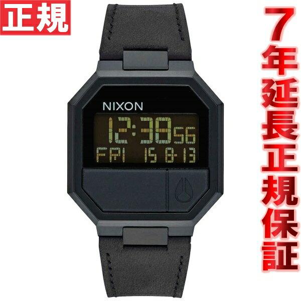 ニクソン NIXON リ・ランレザー RE-RUN LEATHER 腕時計 メンズ/レディース オールブラック NA944001-00【2016 新作】 [正規品][送料無料][7年延長正規保証][ラッピング無料]