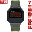 ニクソン NIXON リ・ランレザー RE-RUN LEATHER 腕時計 メンズ/レディース オールブラック/グリーン NA944032-00【2016 新作...