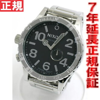 Nixon 51-30 NIXON THE 51-30 watch NA057487-00 high Polish / black NIXON 51-30 tide features