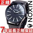 ニクソン NIXON セントリーレザー SENTRY LEATHER 腕時計 メンズ ブラック/ホワイト NA105005-00