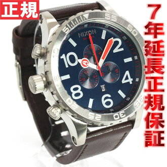 Nixon 51-30 Chrono leather NIXON 51-30 CHRONO LEATHER watch NAVY/BROWN Navy Brown NA124879-00