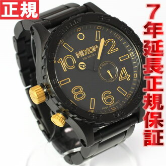 Nixon NIXON 51-30 watch men's matte black / gold NA0571041-00