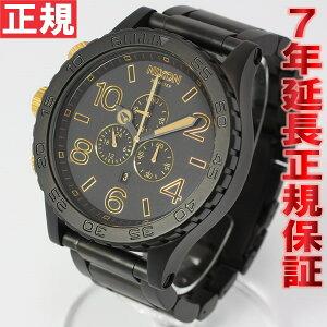 ニクソンNIXON51-30CHRONOクロノ腕時計メンズマットブラック/ゴールドクロノグラフNA0831041-00