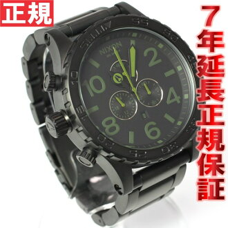 Nixon NIXON 51-30 CHRONO Chrono Watch men's matte black / surplus chronograph NA0831042-00