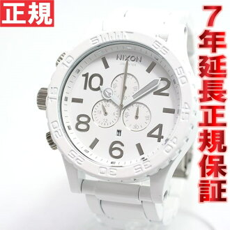 Nixon NIXON 51-30 Chrono 51-30 CHRONO watch men's chronograph-all white / silver NA0831255-00