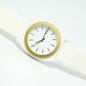 ニクソンNIXONタイムテラーPTIMETELLERP腕時計レディース/メンズホワイト/ゴールドANONA1191297-00