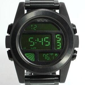 ニクソンNIXONTHEUNITSSユニットSSニクソン腕時計メンズオールブラック/グリーンデジタルNA360032-00